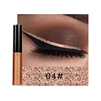 Niome Glitter Eyes Makeup Shine Eyeliner Pencils Liquid Eye Liner Stamp Shining Eyeshadow Liner Gel Waterproof