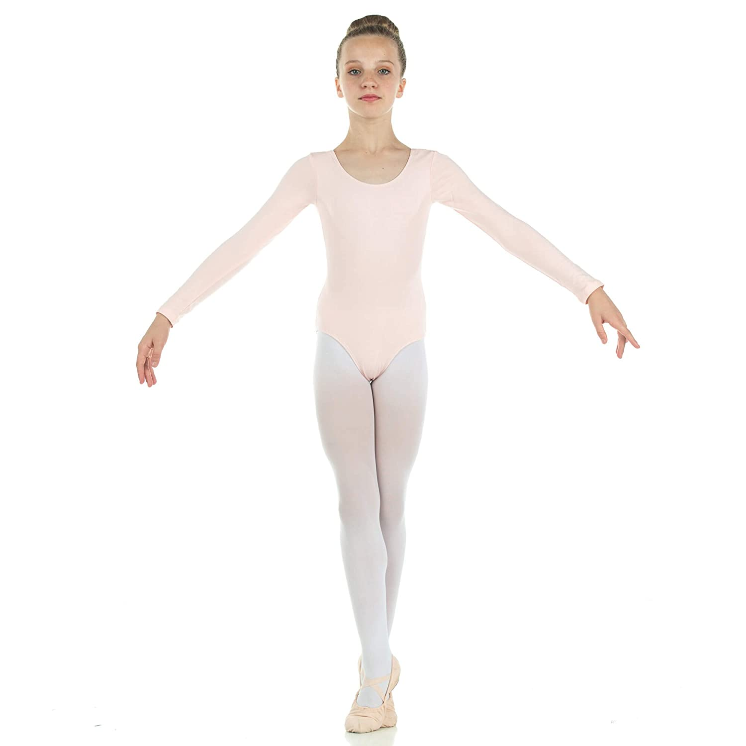 Danzcue Girls Cotton Long Sleeve Ballet Cut Leotard