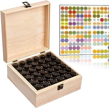 Takefuns - Caja organizadora de 36 compartimentos para aceites ...