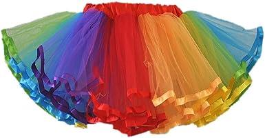 PerfectDay - Falda - trapecio - para mujer, Arco Iris, One Size ...