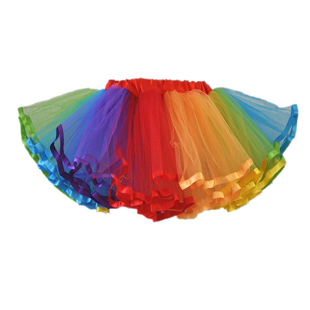 Honeystore Girl's Dress up Fairy Princess Party Tutu Petticoat Skirts Rainbow