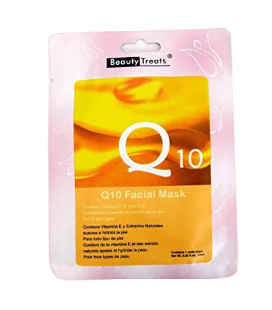 Amazon.com : Beauty Treats Anti-aging Natural Herbal Extracts Q10 Facial Mask for All Skin Types : Beauty