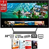 """HP Pavilion 32"""" (2560x1440) QHD Wide-Viewing Angle Display Monitor + Elite Suite 18"""