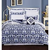 Best TRIBECA LIVING Bed Skirts - TRIBECA LIVING Catalina Cotton 12 Piece Bedding Set Review
