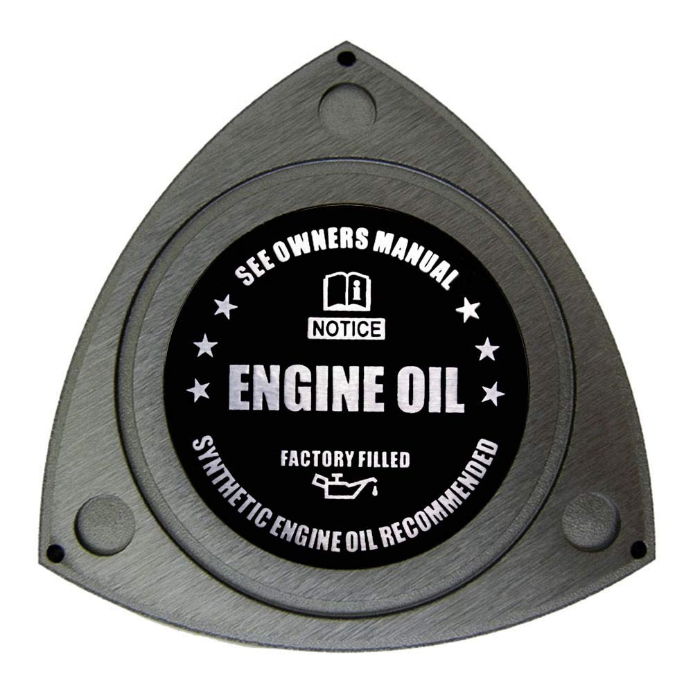 VMS RACING GUNMETAL ROTARY OIL CAP with BLACK