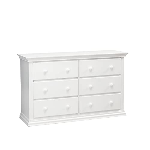 Suite Baby Greenwich 6 Drawer Double Dresser White