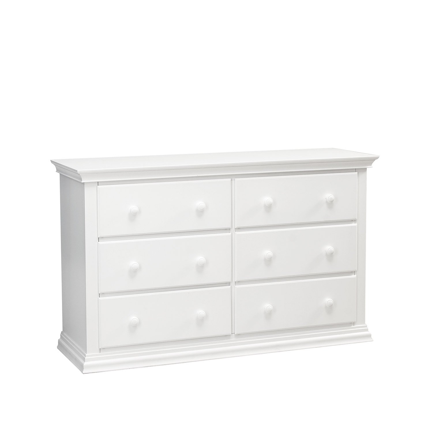 Baby Cache Greenwich 6 Drawer Double Dresser White