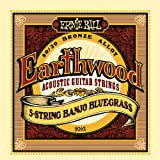 Ernie Ball Earthwood 5-string Banjo 80/20 Bronze Loop End Bluegrass Set, .009 - .020