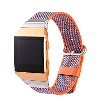 MYQyiyi Deportiva Correa de Nylon de Reloj Inteligente para Apple Watch Fitbit Ionic 32mm: Amazon.es: Relojes