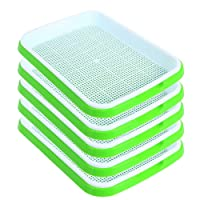 SHEING Seed Sprouter Tray 5 Pack, BPA Free Nursery Tray Seed Germination Tray Healthy...
