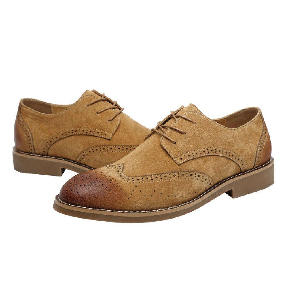 DHFUD Zapatos De Verano Zapatos De Cuero Retro Británicos Casuales De Corea 39 EU|Brown1