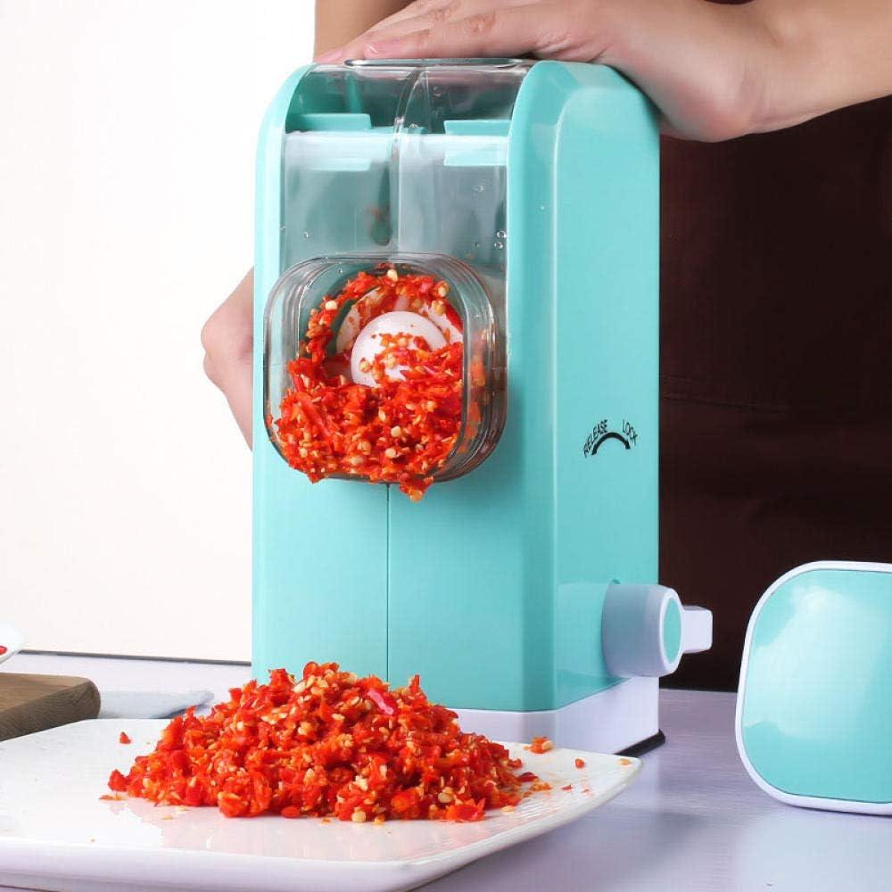 Fslt Tritacarne Multifunzionale per Verdure Tritacarne in Acciaio Inossidabile e ABS Pratico Tritatutto da Cucina Attrezzi da Cucina Blu Blu