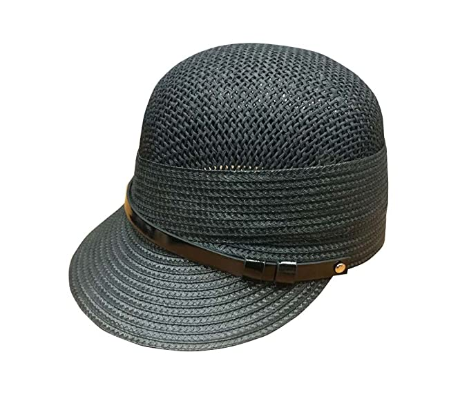 73aa5d4fb2cfb YueLian Men s Out Riding Cap Summer Straw Woven Sun Hat (color 1) at ...