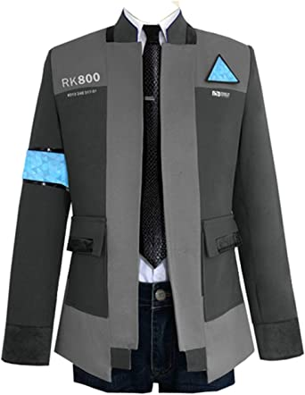 Amazon Com Cosfly Game Become Human Connor Jacket Cosplay Costume Men Coat Uniform Suit Clothing