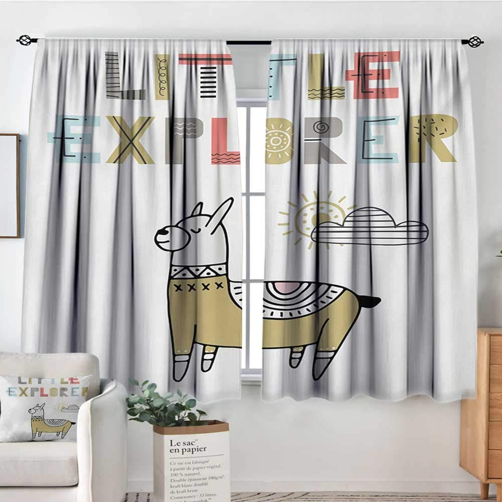 color13 42 W x 63 L Elliot Dgoldthy Blackout Curtains Kids,Funny Transportation Toys with Train Car Airplane Horn Balls Auto Tire Cartoon Design,Multicolor,for Room Darkening Panels for Living Room, Bedroom 42 x54