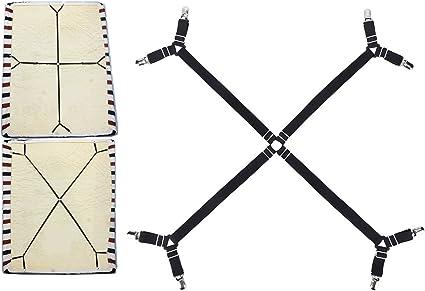 BaiJ Bettlakenspanner Elastische,3-Wege 6-Seiten Betttuchspanner Verstellbare Bettlakenverschl/üsse Bettlaken-Verschl/üsse f/ür Allround und Vierkantmatratzen Wei/ß