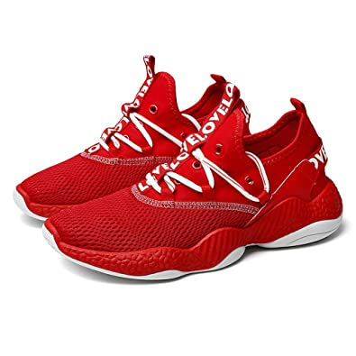 9afb7ee2c8227 Amazon.com | Mosunx Athletic Men Mesh Lace Up Sneakers, Lightweight ...