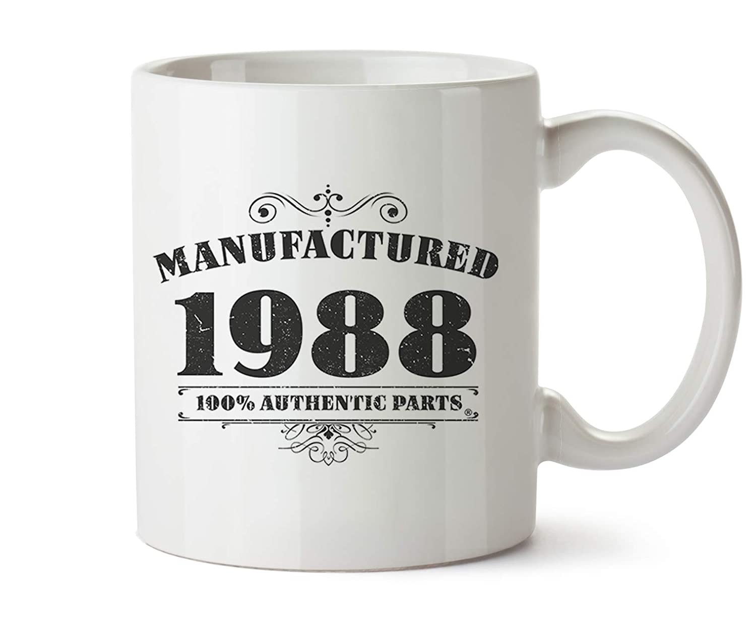 30th Birthday Gifts Manufactured 1988 Funny Mugs Birthday Gifts for Her & Birthday Gifts for Him Gift Boxed Bang Tidy Clothing RA1023P