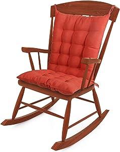 Tiita Rocking Chair Cushion Pad Seat: 15.7x15.7x3 Inch Seat Back: 21.6x15.7x3 Inch, Outdoor/Indoor Tufted Seat Cushions, Orange
