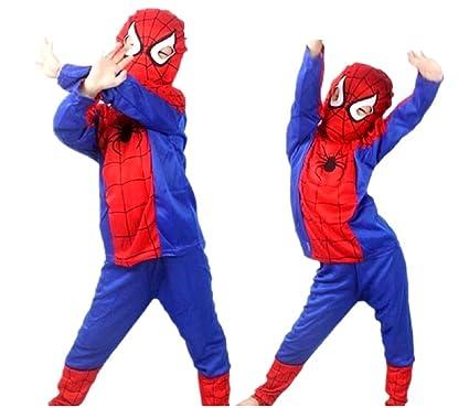 Inception Pro Infinite Talla L - 7 - 8 años - Disfraz - Disfraz - Carnaval - Halloween - Spiderman - Super héroe - Hombre araña - Rojo - Niño