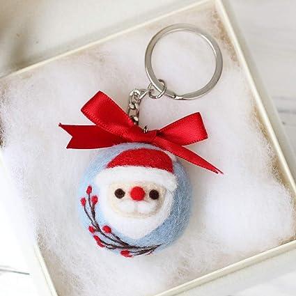 Amazon.com: UJulio Navidad Santa Claus llavero DIY aguja ...