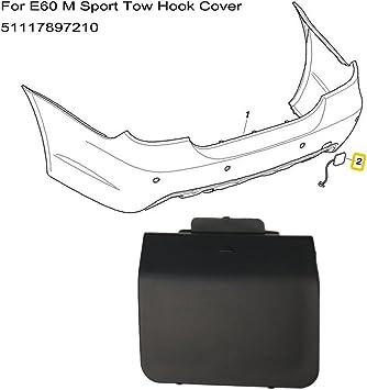 1Pcs Front Bumper Tow Hook Cover Eye Cap OEM for Cadillac SRX 2010-2015