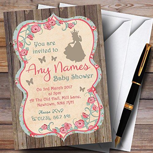 Shabby Chic Woodland Princess Invitations Baby Shower Invitations