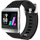 for Fitbit Ionic Bands, Ausexy Squama Grain Soft Silicone Replacement Sport Strap Watchband Accessories for Fitbit Ionic Smart Watch