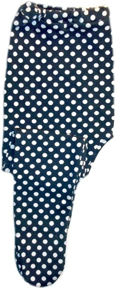 0-3 Months Jacquis Baby Girls Navy with White Polka Dot Tights