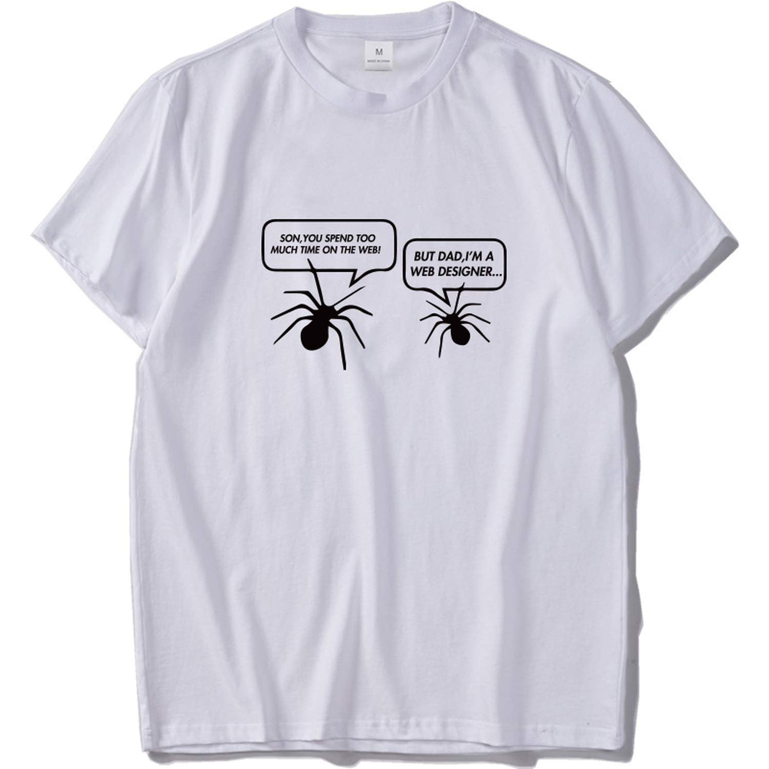 Programmer T Shirt Funny I M A Weber Tshirt Round Neck Fashion Tee Spider Tops 2467