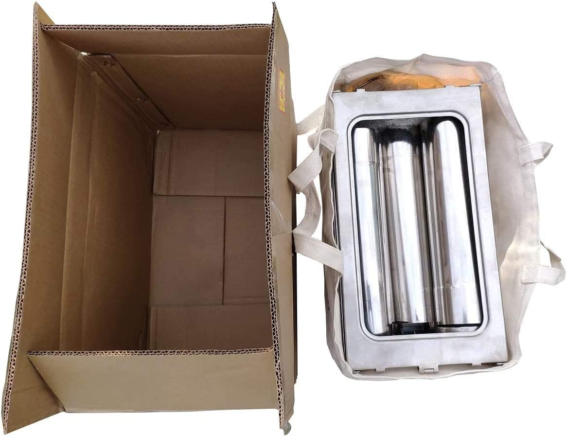 Compact Stainless Steel Cube Camp Stove