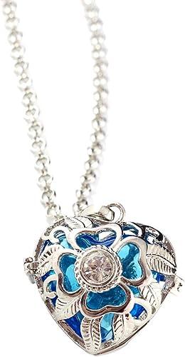 Damen Halskette Parfüm Öl Diffusor mit Glasperlen Anhänger Thanksgiving Schmuck