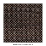 Basketweave - Earth Floormat by Chilewich - 2'2'' x 3'