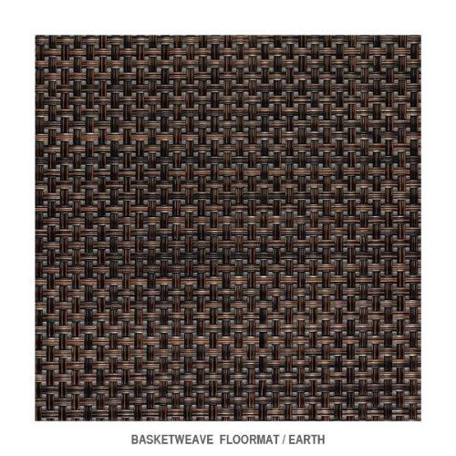 Basketweave - Earth Floormat by Chilewich - 2'2'' x 3'