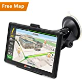 "Junsun 7"" Capacitive Touchscreen Built-in 8GB FM MP3 MP4 SAT NAV Car Truck GPS Navigation System Navigator with Lifetime Maps"