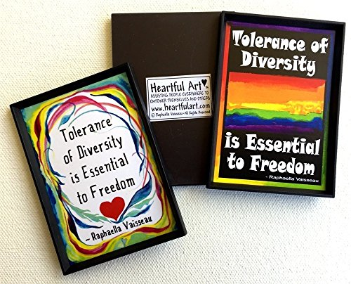 Tolerance of diversity 2x3 Raphaella Vaisseau magnet - Heartful Art ()