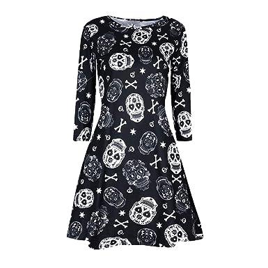 Halloween Disfraces para Mujer, Vestidos de Fiesta Estampado ...