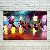 Westlake Art Dance Tap - 12x18 Poster Print Wall Art - Abstract Artwork Home Decor Office Birthday Christmas Gift - Unframed 12x18 Inch (499C-01349)