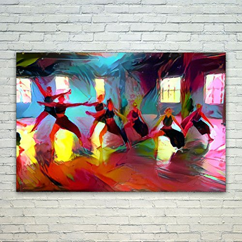 Westlake Art Dance Tap - 12x18 Poster Print Wall Art - Abstract Artwork Home Decor Office Birthday Christmas Gift - Unframed 12x18 Inch (499C-01349) by Westlake Art