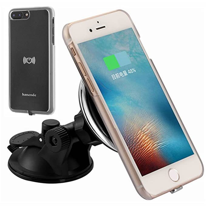 buy online 725cb 392f1 Magnetic Wireless Car Charger Kit for iPhone 7 Plus, hanende Vehicle  Mounted Qi Wireless Car Charger Dock and Wireless Receiver Case for iPhone  7 Plus ...
