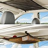 CEISPOB SUV Car Ceiling Storage Net Pocket, Car Roof Bag, Interior Cargo Net Breathable Mesh Bag, Adjustable Sundries…