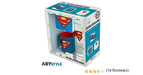 ABYstyle - DC COMICS - Caja de Regalo Superman con copa 29cl + ...