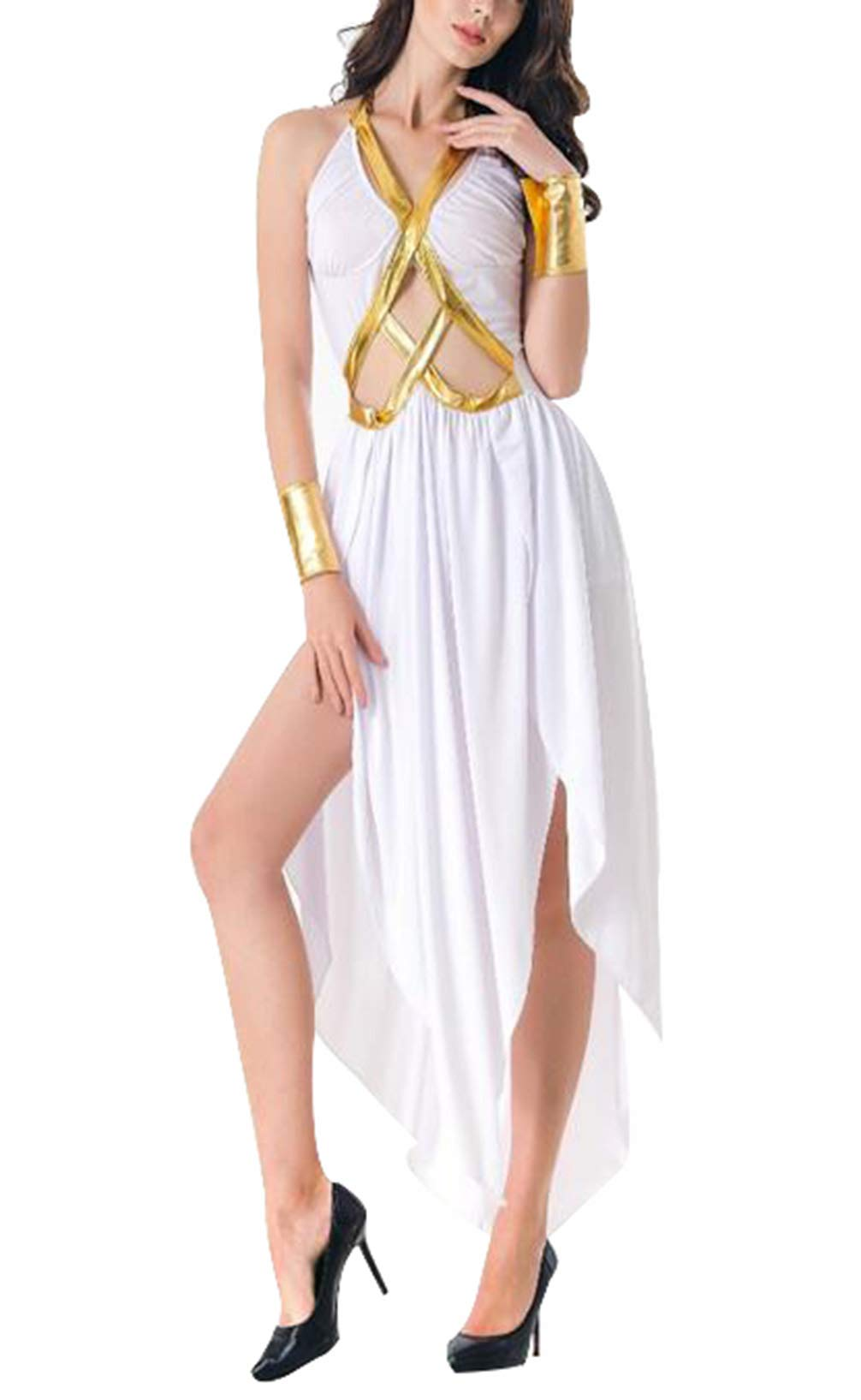 Seipe Halloween Adult Costume Apparel Elf Attire Greek Goddess Princess Outfits