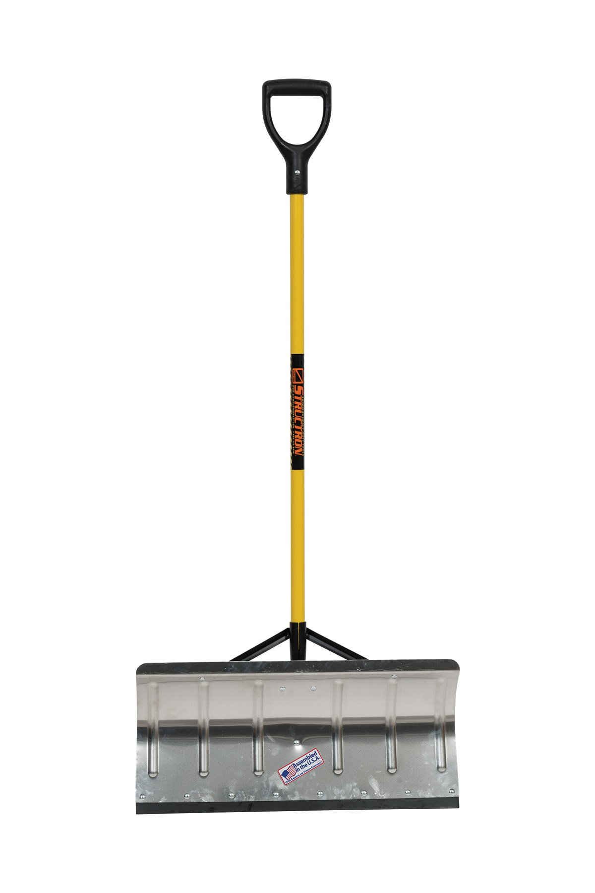 Structron STR-AP100 24'' Blade Snow Pusher, 42'' Fiberglass Handle, Poly D-Grip