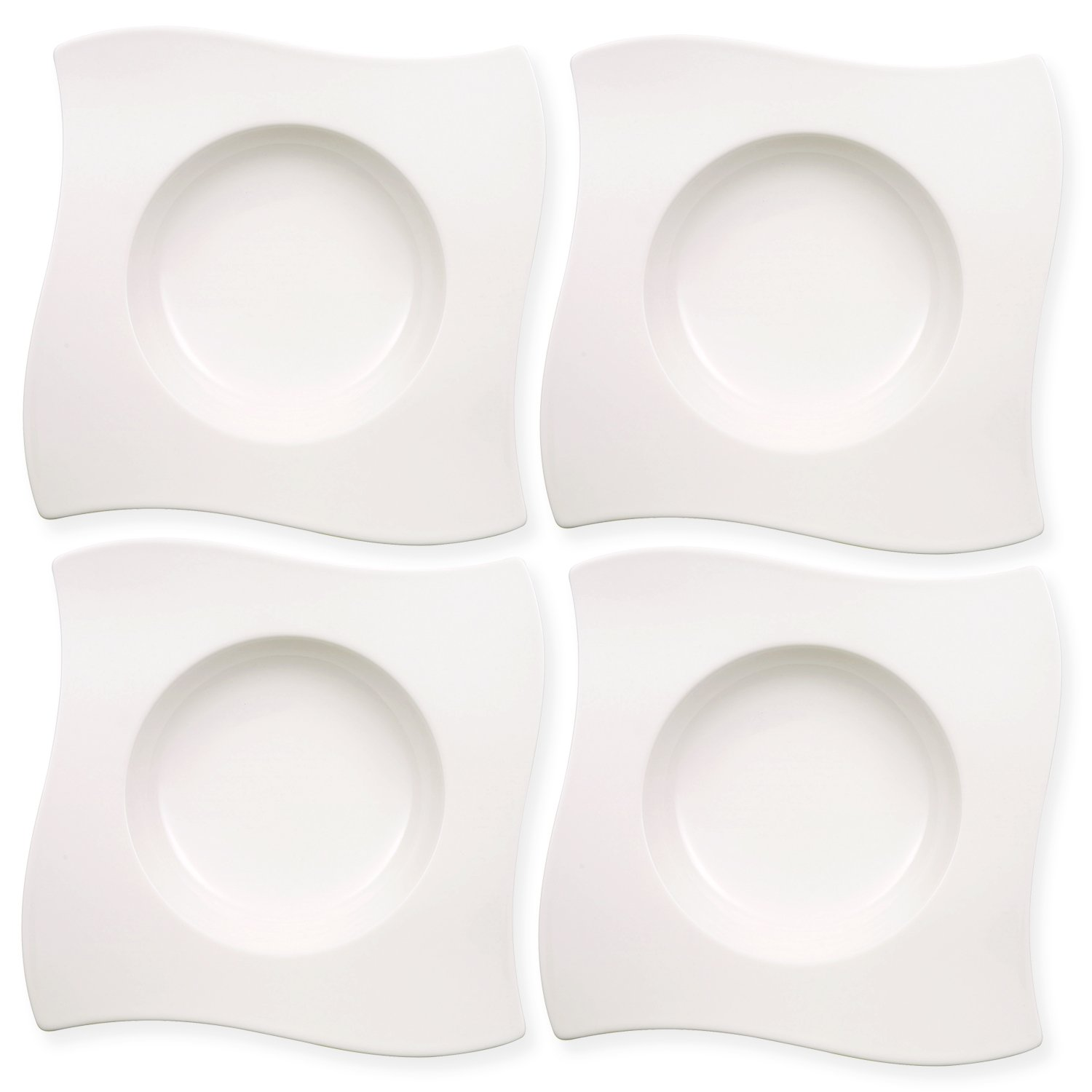 New Wave Soup Bowl Set of 4 by Villeroy & Boch - Premium Porcelain - Made in Germany - Dishwasher and Microwave Safe - 9.25 - Serves 4 by Villeroy & Boch (Image #2)