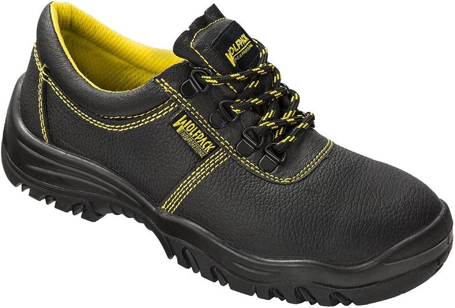 Wolfpack 15018130 Zapatos Seguridad Piel Negra Nº 42