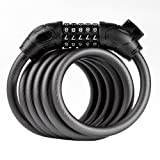 Bike Lock,ZHIXIE Security Cable Lock Combination Best for Bicycle Outdoors, Skateboard, Grill, Family ¡­