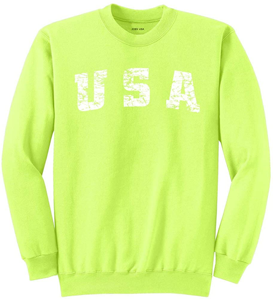 Joe's USA Vintage USA Logo Sweatshirts in 28 Colors in Sizes S-4XL USAL07192015522