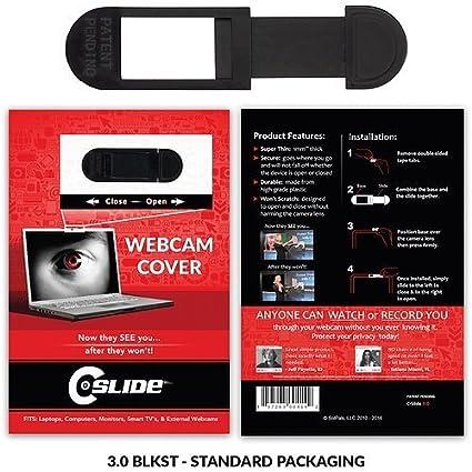 C-Slide A2A Sliding Webcam Cover, Black, Durable Plastic, No Scratch  Design, Fits Computers, Laptops, Macs, Chromebooks, Video Game Consoles,  More