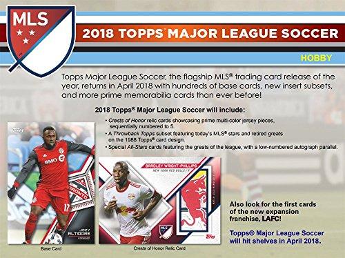 2018 Topps MLS Soccer Hobby 12-Box Case (Case Football 12 Box)